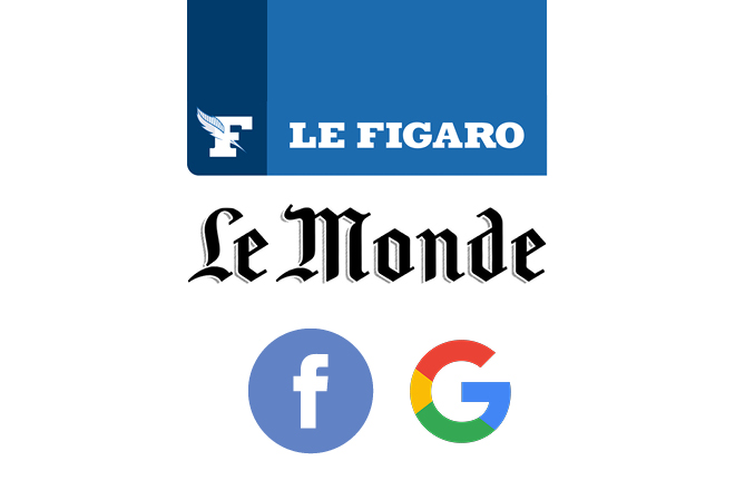 Συμμαχία Le Figaro και Le Monde εναντίον Facebook και Google