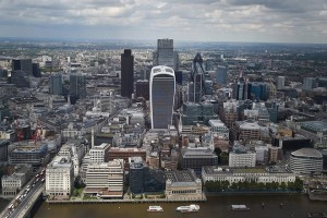 epa05599061 (FILE) A file photograph showing general view of the City of London in London, Britain, 24 June 2016. edia reports on 23 October 2016 state that that British Bankers' Association (BBA) Chief Executive Anthony Browne said that banks were getting ready to move operations overseas from Britain due to the uncertainty of the Brexit process. Anthony Browne stated 'their hands poised quivering over the relocate button.'  EPA/ANDY RAIN