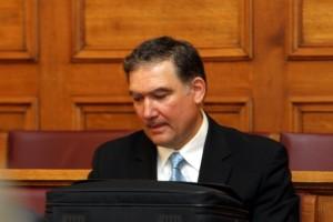 Ο πρόεδρος της Ελληνικής Στατιστικής Αρχής Ανδρέας Γεωργίου κατέθεσε στην επιτροπή οικονομικών υποθέσεων της Βουλής, Τρίτη 20 Σεπτεμβρίου 2011.  ΑΠΕ-ΜΠΕ/ΑΠΕ-ΜΠΕ/ΠΑΝΤΕΛΗΣ ΣΑΙΤΑΣ