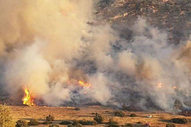 Πολύ υψηλός κίνδυνος πυρκαγιάς σήμερα και αύριο