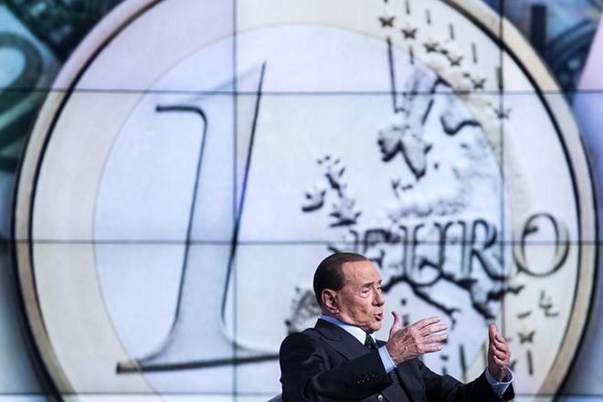 epa06041594 Italian former Prime Minister and leader of 'Forza Italia' party, Silvio Berlusconi, during the recording of Rai TV program 'Porta a porta', hosted by journalist Bruno Vespa, in Rome, Italy, 21 June 2017.  EPA/ANGELO CARCONI