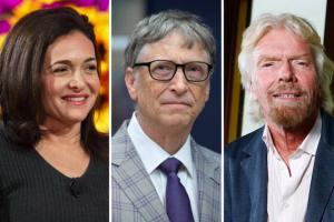 Sheryl Sandberg, Bill Gates and Richard Branson