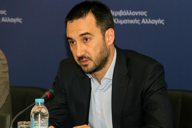 O  αναπληρωτής υπουργός Οικονομίας και Ανάπτυξης Αλέξης Χαρίτσης  συμμετέχει σε συνέντευξη τύπου στο Αμφιθέατρο του Υπουργείου Περιβάλλοντος και Ενέργειας., Πέμπτη 20 Ιουλίου 2017. O αναπληρωτής υπουργός Περιβάλλοντος και Ενέργειας Σωκράτης Φάμελλος και ο αναπληρωτής υπουργός Οικονομίας και Ανάπτυξης Αλέξης Χαρίτσης παρουσίασαν τα χρηματοδοτικά εργαλεία για την κατασκευή των έργων διαχείρισης απορριμμάτων της χώρας. ΑΠΕ-ΜΠΕ/ΑΠΕ-ΜΠΕ/Παντελής Σαίτας