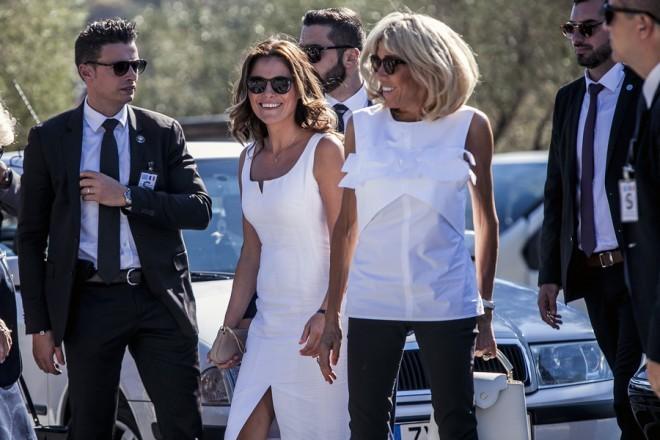 Οι Πρώτες Κυρίες Ελλάδας και Γαλλίας στην Ακρόπολη