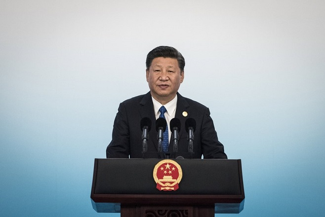 epa06184487 Chinese President Xi Jinping speaks during a press conference at the 2017 BRICS Summit in Xiamen, Fujian province, China, 05 September 2017. The ninth BRICS (Brazil, Russia, India, China and South Africa) Summit in Xiamen runs from 03 to 05 September.  EPA/FRED DUFOUR / POOL
