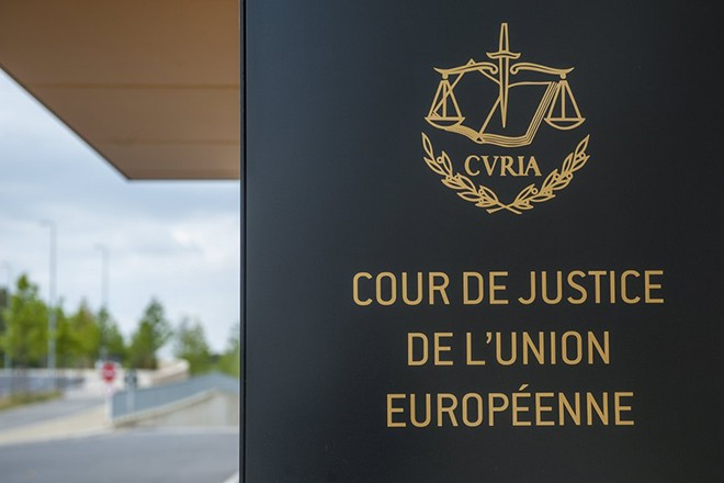 epa06187085 (FILE) - The European Court of Justice's (ECJ) entrance building prior to the hearing of the Shepherd case in Luxembourg, 25 June 2014 (reissued 06 September 2017). The ECJ on 06 September 2017 upheld the decision by the European Union (EU) to force member states to take in a quota of asylum seekers. It dismissed complaints by Hungary and Slovakia and said the EU had the right to order governments in this matter. A provisional mechanism for the mandatory relocation of asylum seekers was applied in 2015 to relocate refugees - mainly from Syria - arriving in Greece and Italy to other EU member states.  EPA/NICOLAS BOUVY *** Local Caption *** 51936045