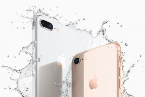 epa06200828 A handout photo made available by Apple Inc., shows the Apple iPhone 8 Plus (L) and iPhone 8 (R) as introduced at the new Steve Jobs Theater during the Apple Special Event at the new Apple Headquarters in Cupertino, California, USA, 12 September 2017. The new phones features include a new glass and aluminum design, a Retina HD display, A11 Bionic Chip, new single and dual cameras with support for protrait lighting and wireless charging.  The new iPhone 8 and 8 Plus will be available to order in many countries on 15 September 2017 with availability on 22 September 2017. A second group of countries will have availability starting on 29 September 2017.  EPA/APPLE INC. / HANDOUT  HANDOUT EDITORIAL USE ONLY/NO SALES