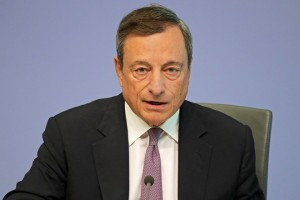epa06189783 Mario Draghi, President of the European Central Bank (ECB), attends a press conference in Frankfurt Main, Germany, 07 September 2017. Draghi presented the outcomes of the ECB Governing Council monetary policy meeting and the decision on interest rate.  EPA/ARMANDO BABANI