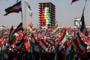 Kurds celebrate to show their support for the upcoming September 25th independence referendum in Erbil, Iraq September 22, 2017. REUTERS/Azad Lashkari