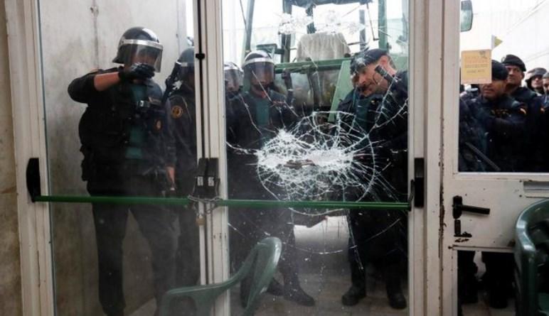 Χάος στο δημοψήφισμα στην Καταλονία- 460 οι τραυματίες