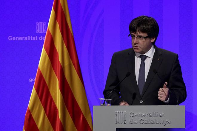 Την «αποκατάσταση όσων καθαιρέθηκαν» ζητά για το 2018 ο ηγέτης της Καταλονίας από τη Μαδρίτη
