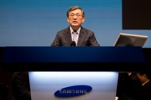 FILE PHOTO: Kwon Oh-Hyun, co-chief executive officer of Samsung Electronics Co., speaks during the company's annual general meeting at the Seocho office building in Seoul, South Korea, March 24, 2017.  REUTERS/SeongJoon Cho/Pool/File Photo