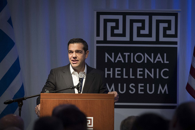 (Ξένη Δημοσίευση) Ο πρωθυπουργός, Αλέξης Τσίπρας μιλάει στη Δεξίωση του Γενικού Προξενείου της Ελλάδας στο Σικάγο προς τιμήν του πρωθυπουργού στο National Hellenic Museum, Δευτέρα 16 Οκτωβρίου 2017. Ο πρωθυπουργός, Αλέξης Τσίπρας πραγματοποιεί πενθήμερη επίσκεψη στις ΗΠΑ. ΑΠΕ-ΜΠΕ/ΓΡΑΦΕΙΟ ΤΥΠΟΥ ΠΡΩΘΥΠΟΥΡΓΟΥ/Andrea Bonetti