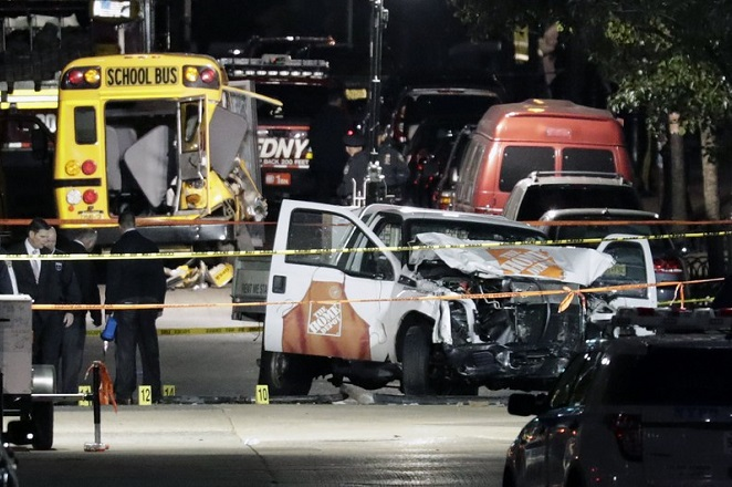 Οκτώ νεκροί στην πρώτη τρομοκρατική ενέργεια στη Νέα Υόρκη μετά την 11/9