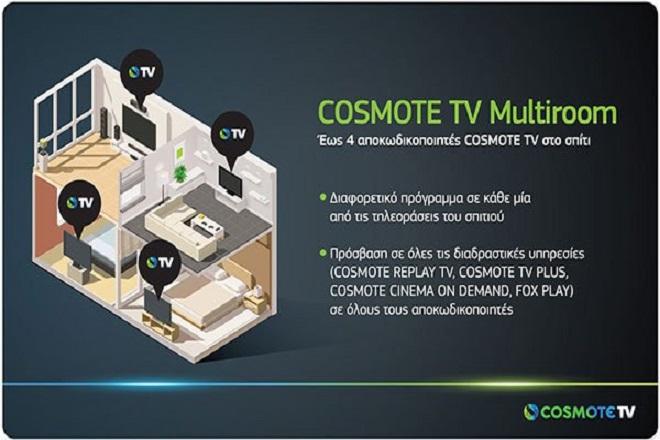 Νέα υπηρεσία COSMOTE TV Multiroom για να βλέπουν όλοι στο σπίτι το κανάλι που θέλουν