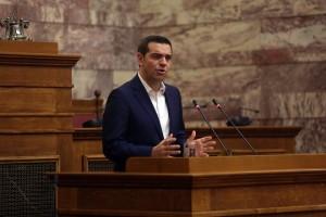Ο πρωθυπουργός Αλέξης Τσίπρας μιλάει από το βήμα στη συνεδρίαση της Κοινοβουλευτικής Ομάδας του ΣΥΡΙΖΑ, Βουλή, Αθήνα Τετάρτη 8 Νοεμβρίου 2017.  ΑΠΕ-ΜΠΕ/ΑΠΕ-ΜΠΕ/ΟΡΕΣΤΗΣ ΠΑΝΑΓΙΩΤΟΥ