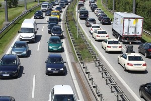 epa06069546 Cars are stuck in a traffic jam on a motor way near the airport in Hamburg, Germany, 06 July 2017. The G20 Summit (or G-20 or Group of Twenty) is an international forum for governments from 20 major economies. The summit is taking place in Hamburg 07 to 08 July 2017. The guesthouse is considered to be the accommodation for US President Donald Trump during the summit.  EPA/ARMANDO BABANI