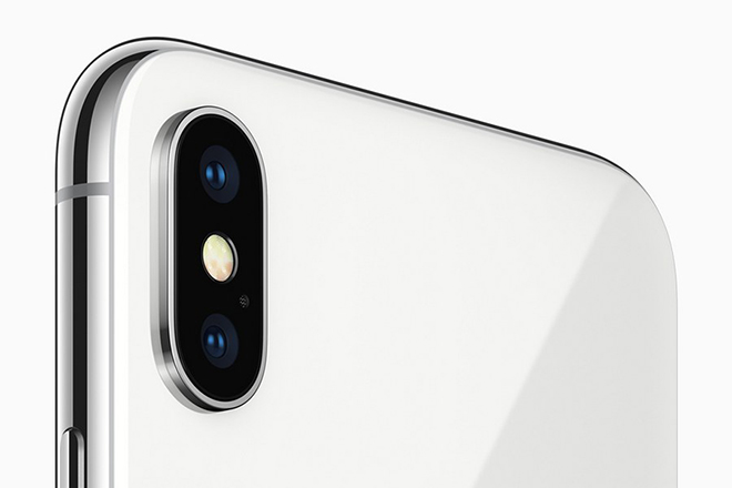 epa06200756 A handout photo made available by Apple Inc., shows the Apple iPhone X as introduced at the new Steve Jobs Theater during the Apple Special Event at the new Apple Headquarters in Cupertino, California, USA, 12 September 2017. The new phone features include a 5.8-inch Super Retina display, an improved rear camera with dual optical image stabilization, TrueDepth Camera System, Face ID and A11 Bionic Chip with Neural Engine. Apple said the phone uses a new face ID authentication, using a state-of-the-art TrueDepth camera system made up of a dot projector, infrared camera and flood illuminator, and is powered by A11 Bionic to accurately map and recognize a face. The new iPhone X will be available for pre-order beginning Friday, 27 October 2017 in more than 55 countries and territories, and in stores beginning Friday, 03 November 2017.  EPA/APPLE INC. / HANDOUT  HANDOUT EDITORIAL USE ONLY/NO SALES