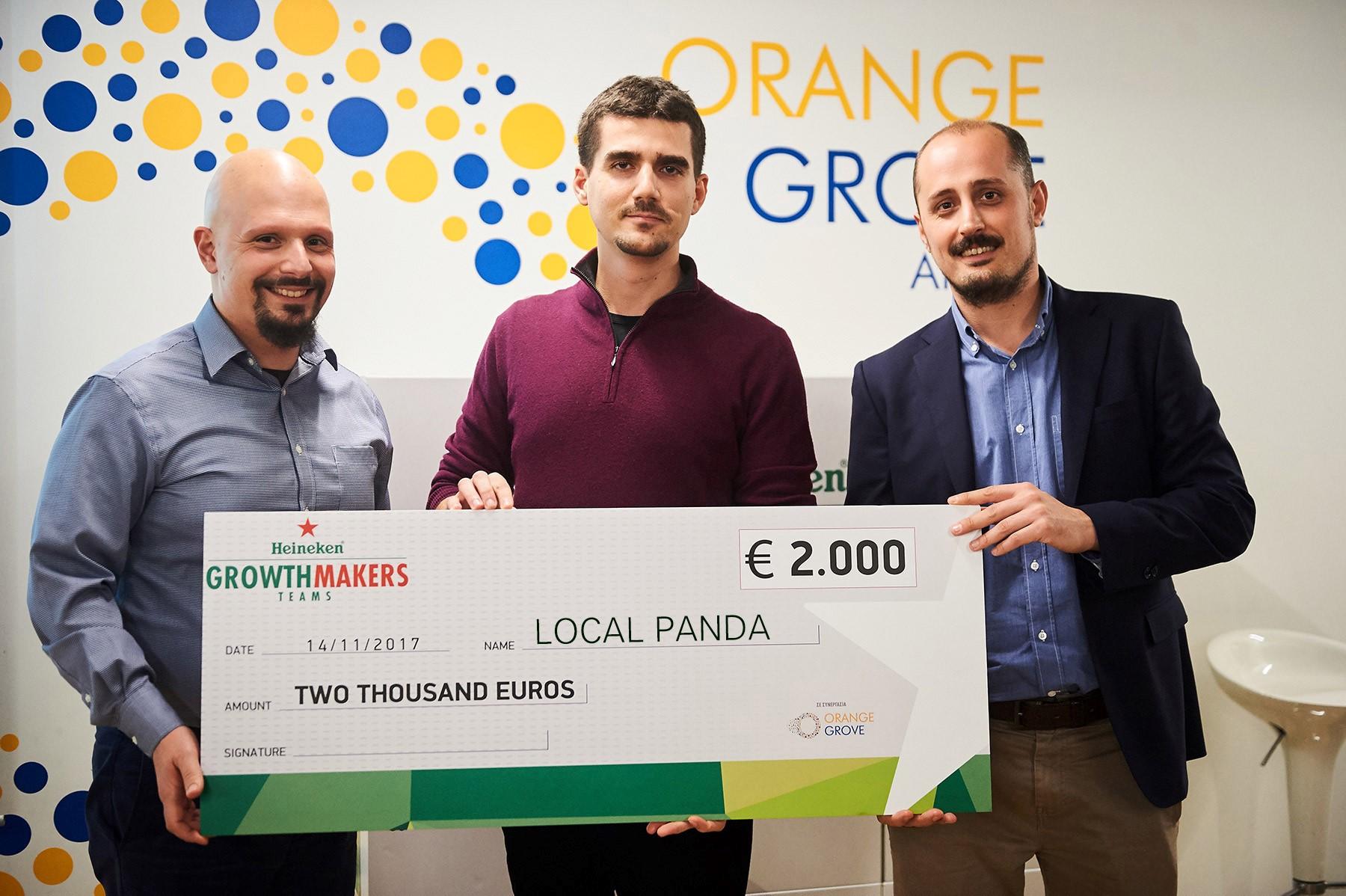 7.Local Panda: νικήτρια ομάδα του επιχειρηματικού διαγωνισμού Heineken Growth Makers.
