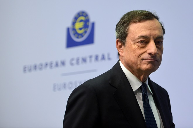 FRANKFURT AM MAIN, GERMANY - DECEMBER 04:  Mario Draghi, President of the European Central Bank arrives for his first press conference following the monthly ECB board meeting in the new ECB headquaters on December 4, 2014 in Frankfurt am Main, Germany.  (Photo by Thomas Lohnes/Getty Images)