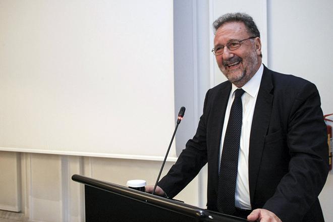 Ο υφυπουργού Οικονομίας και Ανάπτυξης, Στέργιος Πιτσιόρλας, μιλάει στο 4o Πανελλήνιο Συνέδριο για την Ανάπτυξη της Ελληνικής Γεωργίας που διοργανώνει η GAIA Eπιχειρείν (όμιλος Τράπεζας Πειραιώς) σε γνωστό ξενοδοχείο στην Θεσσαλονίκη. Πέμπτη 9 Νοεμβρίου 2017. ΑΠΕ ΜΠΕ/PIXEL/ΜΠΑΡΜΠΑΡΟΥΣΗΣ ΣΩΤΗΡΗΣ