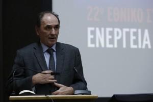 """Ο υπουργός Περιβάλλοντος και Ενέργειας Γιώργος Σταθάκης μιλάει στο συνέδριο του ΙΕΝΕ """"Ενέγεια και Ανάπτυξη 2017"""" στο ίδρυμα Ευγενίδου, Αθήνα Πέμπτη 23 Νοεμβρίου 2017. ΑΠΕ-ΜΠΕ/ΑΠΕ-ΜΠΕ/ΓΙΑΝΝΗΣ ΚΟΛΕΣΙΔΗΣ"""