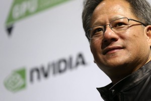 epa05550039 Nvidia president and CEO Jen-Hsun Huang speaks during the GPU technology conference in Taipei, Taiwan, 21 September 2016. During the conference, industry leaders will discuss new developments in Artificial Intelligence (AI) and its impact on the future of the technology industry.  EPA/RITCHIE B. TONGO