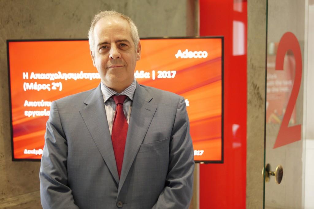 O Κωνσταντίνος Μυλωνάς, Διευθύνων Συμβούλος του Ομίλου Adecco Ελλάδας.