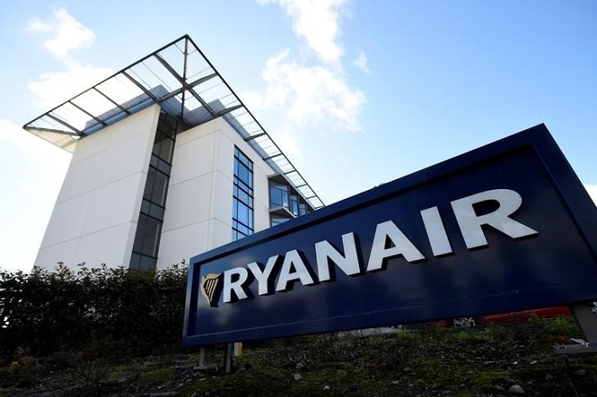 Ryanair headquarters building is seen in Dublin, Ireland September 21, 2017. REUTERS/Clodagh Kilcoyne