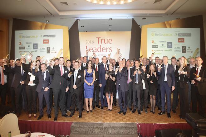 Η ICAP Group βράβευσε τις 68 εταιρείες και τουςΟμίλους TRUE LEADERS 2016