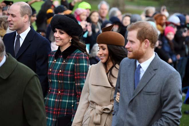 Royal Family Christmas Day Church Service