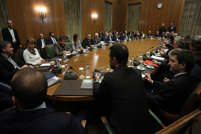Ο πρωθυπουργός Αλέξης Τσίπρας προεδρεύει στη συνεδρίαση του Υπουργικού Συμβουλίου, Αθήνα Δευτέρα 8 Ιανουαρίου 2018. Συνεδριάζει, για πρώτη φορά για το 2018, το Υπουργικό Συμβούλιο στην αίοθουσα της Βουλής. ΑΠΕ-ΜΠΕ/ΑΠΕ-ΜΠΕ/ΟΡΕΣΤΗΣ ΠΑΝΑΓΙΩΤΟΥ