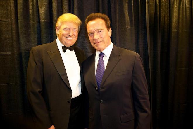trump, Schwarzenegger
