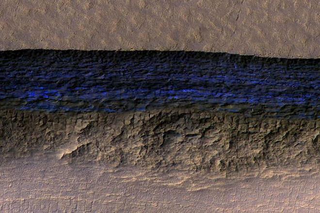 Μεγάλα αποθέματα παγωμένου νερού εντοπίστηκαν στον Άρη