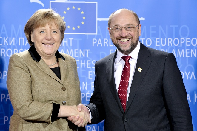 EP President meets with German Chancellor.