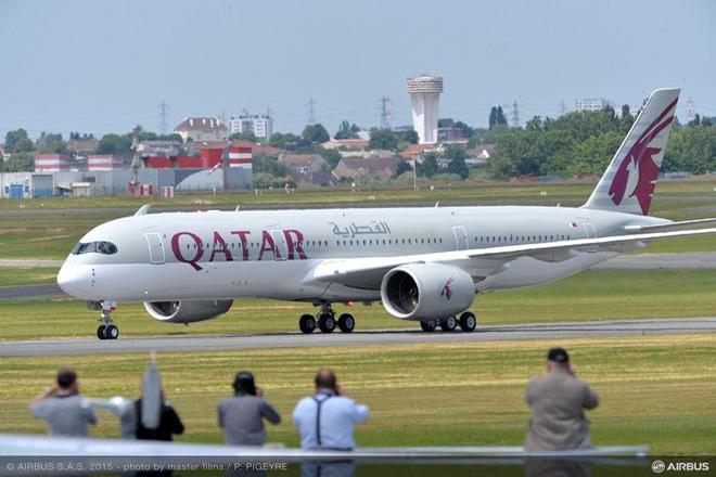 Στην Αθήνα έφερε σήμερα η Qatar Airways το νέο αεροσκάφος Α350