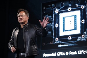 epa05998747 Nvidia president and CEO Jensen Huang speaks during the COMPUTEX in Taipei, Taiwan, 30 May 2017. The COMPUTEX 2017 runs from 30 May to 03 June 2017 and gathers 1,600 exhibitors from different countries with 5,010 booths to display their latest products and to sign orders with foreign buyers. This year's theme focuses on artificial intelligence (AI) and Robotics as well as virtual reality (VR) and Internet of things (IoT).  EPA/RITCHIE B. TONGO