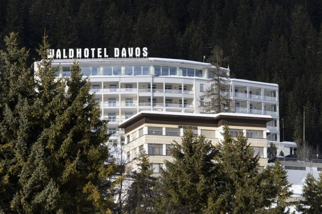 epa06433653 An exterior view of the Waldhotel Davos prior to the World Economic Forum 2018 WEF,  in Davos, Switzerland, 12 January 2018. About 350 leaders, including heads of state or government will participate in the WEF 2018 from 23 to 26 January to under the slogan 'Creating a Shared Future in a Fractured World'.  EPA/GIAN EHRENZELLER