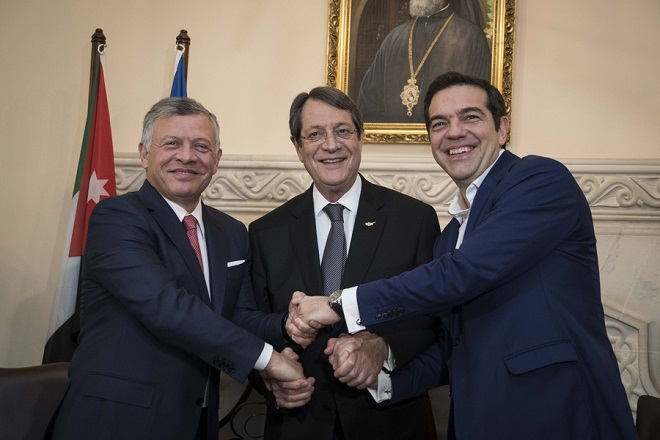 Τσίπρας: Σε γερά θεμέλια η συνεργασία Ελλάδας, Κύπρου και Ιορδανίας