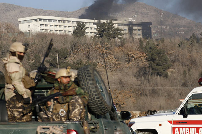 Aftermath of armed attack on Interncontinental hotel in Kabul
