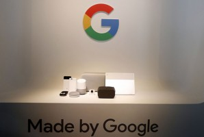 epa06244698 Google introduced their new lineup of hardware devises including the Pixel 2 and Pixel 2 XL phone, the Google Home Max speaker, Google Home and Google Home Mini, Pixel Buds, Google Clips camera, and the Pixelbook laptop, during the new product launch at the San Francisco Jazz Center in San Francisco, California, USA, 04 October 2017.  EPA/MONICA M. DAVEY