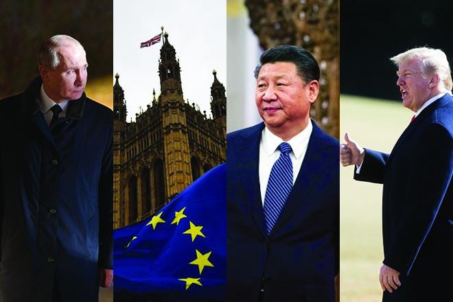 ΗΠΑ, Κίνα, Ε.Ε., Ρωσία: Πώς «ξημέρωσε» το 2018 για τις παγκόσμιες υπερδυνάμεις