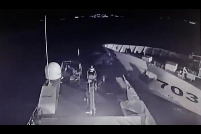 Βίντεο ντοκουμέντο: Ο εμβολισμός του πλοίου Γαύδος από την τουρκική ακταιωρό στα Ίμια