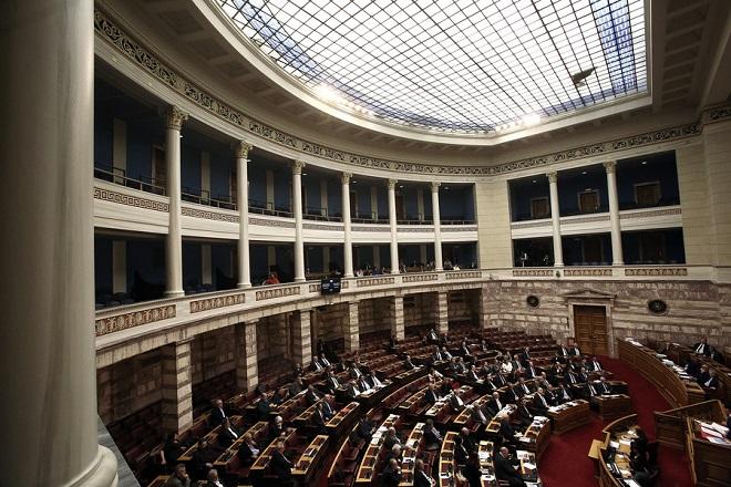 Γενική άποψη από τη συζήτηση και ψηφοφορία επί της προτάσεως της κυβερνητικής πλειοψηφίας για τη συγκρότηση επιτροπής προκαταρκτικής εξέτασης για την υπόθεση NOVARTIS, στην Ολομέλεια της Βουλής, Τετάρτη 21 Φεβρουαρίου 2018. ΑΠΕ-ΜΠΕ/ΑΠΕ-ΜΠΕ/ΣΥΜΕΛΑ ΠΑΝΤΖΑΡΤΖΗ