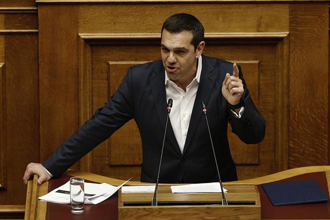 Ο πρωθυπουργός Αλέξης Τσίπρας μιλάει από το βήμα της Βουλής στη συζήτηση και ψηφοφορία επί της προτάσεως της κυβερνητικής πλειοψηφίας για τη συγκρότηση επιτροπής προκαταρκτικής εξέτασης για την υπόθεση NOVARTIS, στην Ολομέλεια της Βουλής, Τετάρτη 21 Φεβρουαρίου 2018. ΑΠΕ-ΜΠΕ/ΑΠΕ-ΜΠΕ/ΑΛΕΞΑΝΔΡΟΣ ΒΛΑΧΟΣ