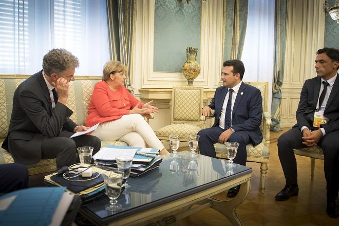 bilateral meeting of Mrs. Merkel and Mr. Zaev.