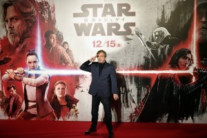 epa06408113 YEARENDER 2017 DECEMBER  US actor and cast member Mark Hamill poses during the red carpet event of the upcoming movie 'Star Wars: The Last Jedi' in Tokyo, Japan, 06 December 2017. The latest opus of the Star Wars saga was screened in Japan from 15 December on.  EPA/FRANCK ROBICHON