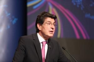 Ο πρόεδρος του ΣΕΒ Θεόδωρος Φέσσας   στο συνέδριο που διοργάνωσε ο ΣΕΒ, με θέμα: «Οι Επιχειρήσεις της Νέας Οικονομίας ως Επιταχυντές της Ψηφιακής Ανάπτυξης», την Πέμπτη 11 Μαΐου 2017, στο Μέγαρο Μουσικής Αθηνών. ΑΠΕ - ΜΠΕ/ΑΠΕ - ΜΠΕ/Αλέξανδρος Μπελτές