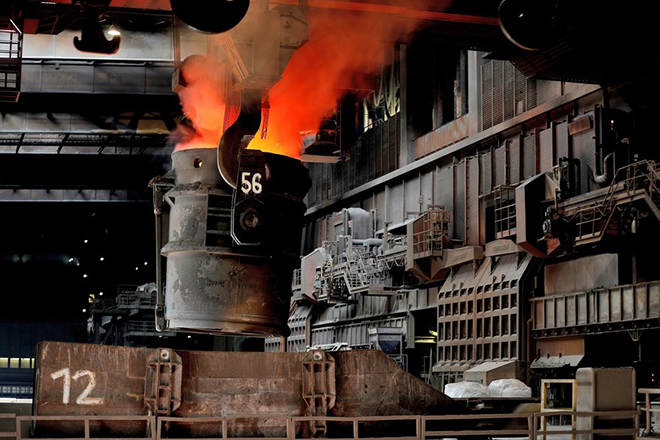 epa06574135 Crude steel is melted in the steel plant of German corporation ThyssenKrupp in Duisburg, Germany, 07 April 2017 (re-issued 02 March 2018). Media reports on 02 March 2018 state the European Union would plan to retaliate should USA go ahead with their plans to impose national tariffs on steel and aluminium imports from around the globe, as announced by US President Donald Trump on 01 March 2018. The announcement sent stocks around the globe lower, amid fears of a possible trade war between USA, China and the EU.  EPA/FRIEDEMANN VOGEL
