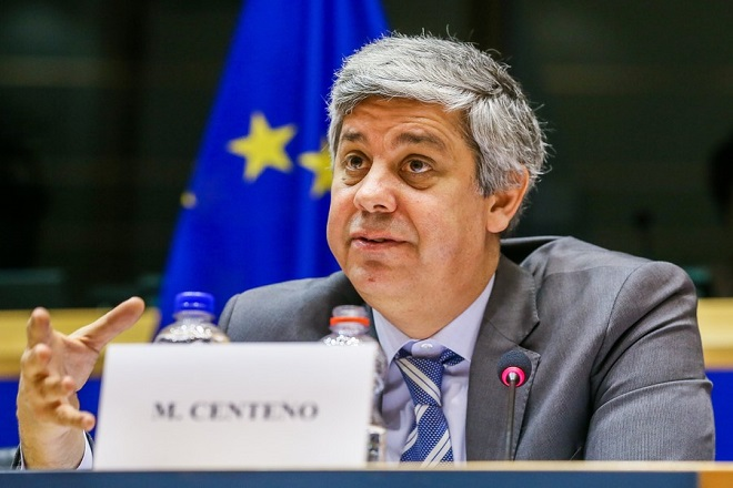 epa06549006 Portuguese Finance Minister and Eurogroup chief Mario Centeno speaks during the European Parliament Committee on Economic and Monetary Affairs at the European Parliament in Brussels, Belgium, 21 February 2018.  EPA/STEPHANIE LECOCQ